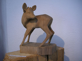 Holzfigur Holzschnitzerei Paul Widmer Holzschnitzkunst