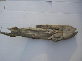 Treibholzkunst Fisch Schnitzerei