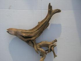 Schwemmholz Skulptur Fisch Schnitzerei Wurzelschnitzerei