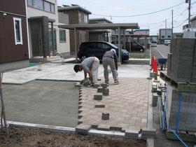 インターロッキング修理札幌手稲