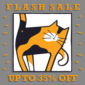 Flash sale cat print Lucy Gell