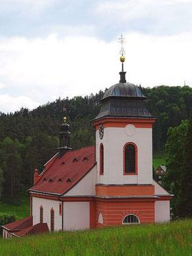 Kirche von Jetřichovice / Dittersbach