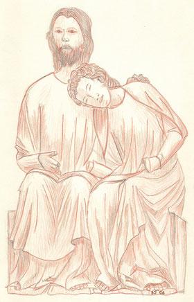 Grußkarte Trauer Christus-Johannes-Gruppe