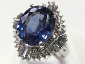 サファイヤダイヤモンドプラチナリング