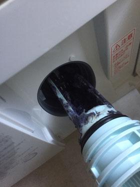 大阪・兵庫の家事代行サービスのハウスクリーニングで洗濯機フィルタービフォー