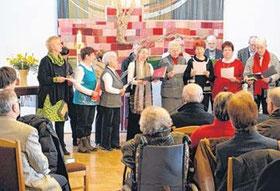 Der Glockenweihe schloss sich der feierliche Ostergottesdienst an, u.a. mit der Ostergeschichte in der Fassung des Markus-Evangeliums.