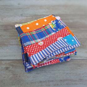 Dessous de verres en patchwork de tissus colorés