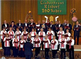 2005: Der Stammchor beim 160er Jubiläum