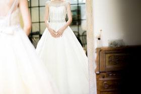 Wunderschönes Brautkleid in Taupe