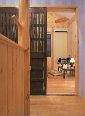 蔵戸 洋室 木腰板