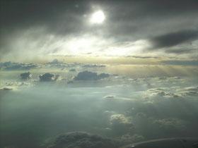 Vista del cielo desde un avión. ©María Sánchez Mellado
