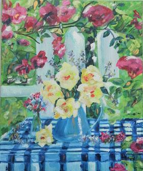 """""""Les beaux jours reviennent..."""" peinture à l'huile, Claire ALLARD"""