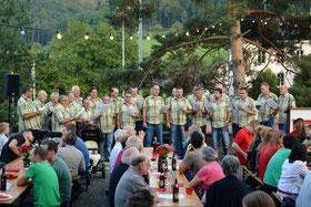 Auftritt mit neuem Kurzarm-Hemd, anlässlich der Bundesfeier 2014.