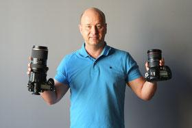 Größenvergleich Pentax 645Z mit Canon EOS 5D MKIII