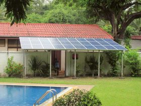 SOLARA solar modules vacation house
