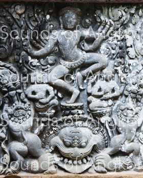 Shiva dancing on Kala's head. Preah Pithu.