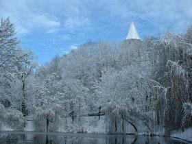 Fontaine-lès-Dijon sous la neige