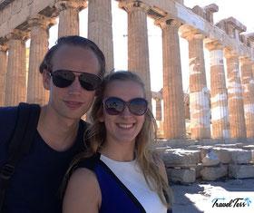 Selfie bij Akropolis