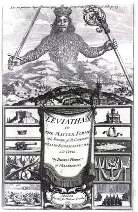 Raffigurazione presente nel frontespizio della prima edizione del Leviatano, 1651