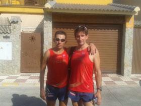 Francisco Roldán y Rafael Lara en los momentos previos a la prueba.