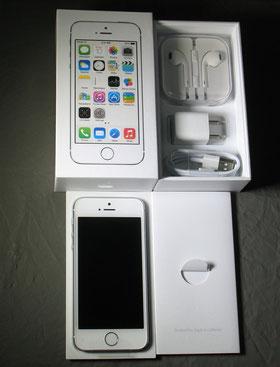iphone5S購入時の本体とその付属品写真