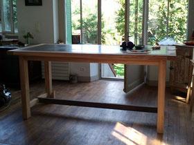 Création d'une table sur mesure à partir d'un marbre d'imprimerie