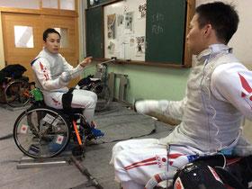 太田雄貴選手がJWFA道場を訪問