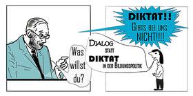 Dialog statt Diktat in der Bildungspolitik Bild:spa
