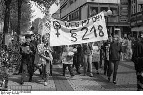 Демонстрация против закона, запрещающего аборты в Германии (Гёттинген, 1988)