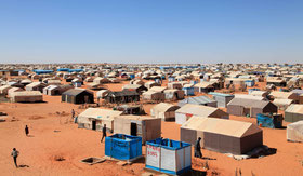 Camp de réfugiés maliens à Mbera (Mauritanie)