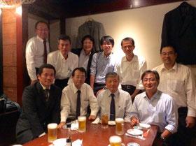 講習会の後、新橋の居酒屋「つばき庵」で反省会。
