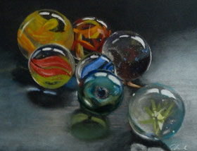Marbles, Murmeln, Pastell