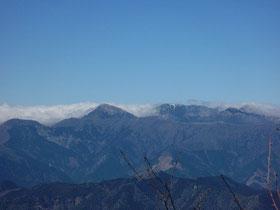 湯桶丸からの剣山系の眺望