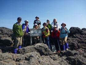 韓国岳(1700m)山頂