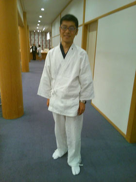 2015.6.15.初の白作務衣。at靖国神社 参集殿
