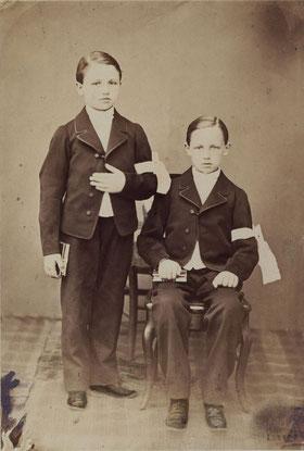 Frédéric e Arthur Rimbaud alla prima comunione