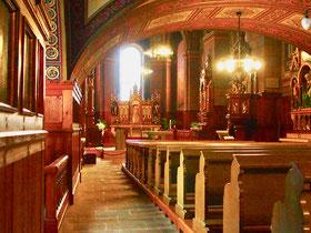 der vollständig restaurierte Kirchenraum