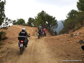 Agentur-Grenzbereich Reiseenduro Training