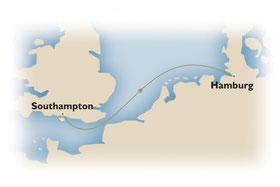Von Southampton nach Hamburg