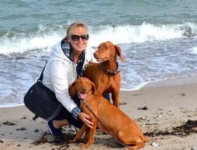 Mit Carlos und Marie am Strand