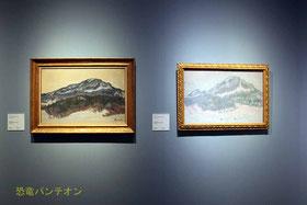(左)クロード・モネ《 ノルウェーのコルサース山》1895年 マルモッタン・モネ美術館、パリ (右)クロード・モネ《ノルウェーのコルサース山》1895年 オルセー美術館、パリ