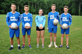 (v.l.n.r.): Moritz Höckele (U 18), Adrian De Lacasse (U 15), Benita Höckele (U 14 weiblich), Fabian Gerst (U 15) und Luis Grulke (U 14)