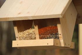 Futterspender Vögel im eigenen Garten Amsel Drossel Fink Star NABU Düren