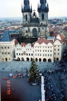 プラハ旧市街のクリスマス・ツリー