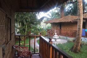 het resort tijdens de yogavakantie in Goa