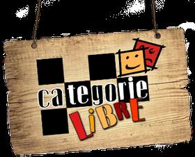 Pancarte en bois avec logo de Catégorie Libre