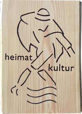 Holzschild Vereinslogo