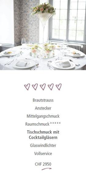 Deluxe Hochzeitsdekoration