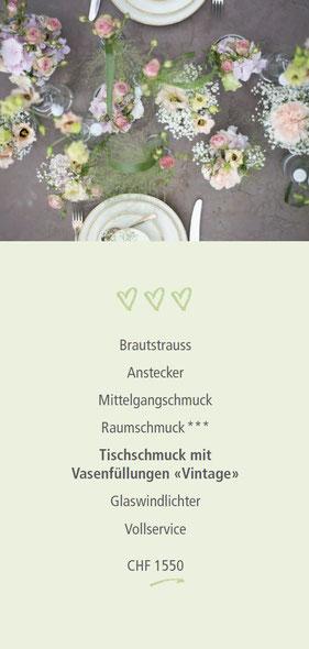 Festliche Hochzeitsdekoration