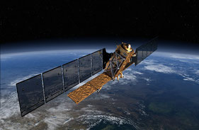 Europäischer Erdbeobachtungssatellit Sentinel-1 (Quelle: ESA)